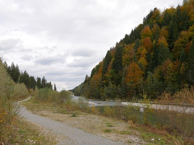 Iller mit Radweg zwischen Oberstdorf und Fischen