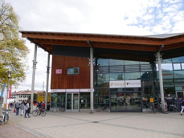 Das Bahnhofsgebäude in Oberstdorf