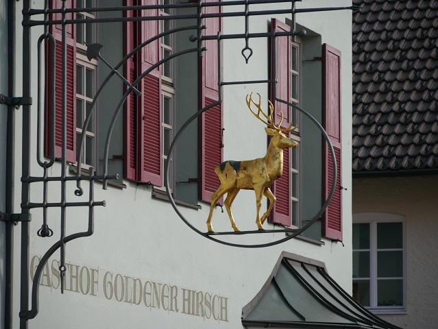 Goldener Hirsch am Gasthof Goldener Hirsch in Obergünzburg