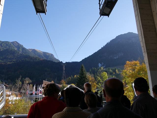 An der Talstation der Nebelhornbahn
