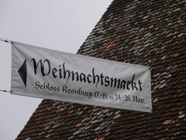 Banner zum Weihnachtsmarkt Schloss Kronburg 2017