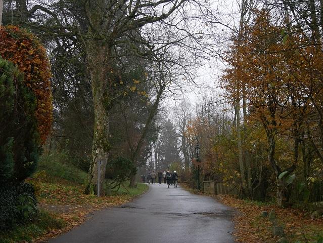 Fußweg zum Schloss Kronburg
