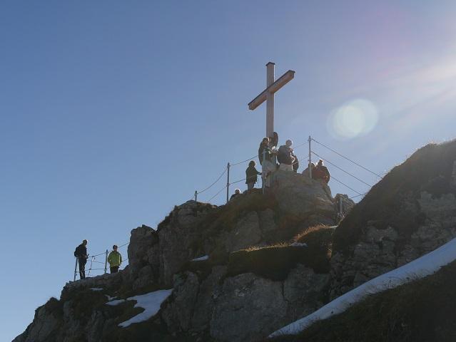 Gipfelkreuz auf dem Nebelhorn