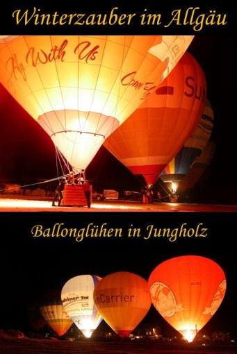 Ballonglühen Jungholz - Bericht mit Video