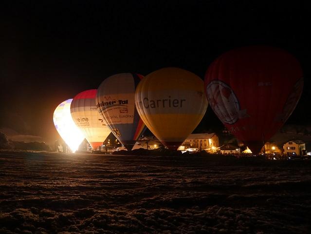 Vor dem Ballonglühen in Jungholz
