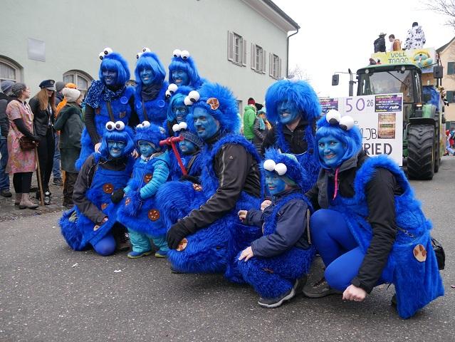 Krümelmonster auf dem Faschingsumzug Obergünzburg 2018