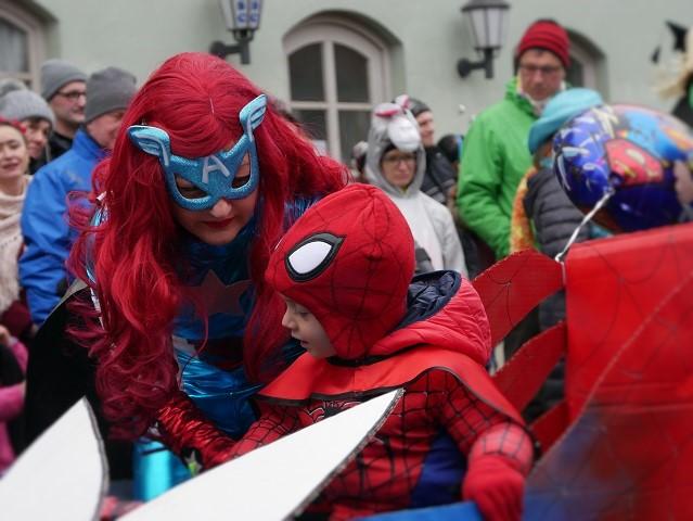 Superhelden auf dem Faschingsumzug Obergünzburg 2018
