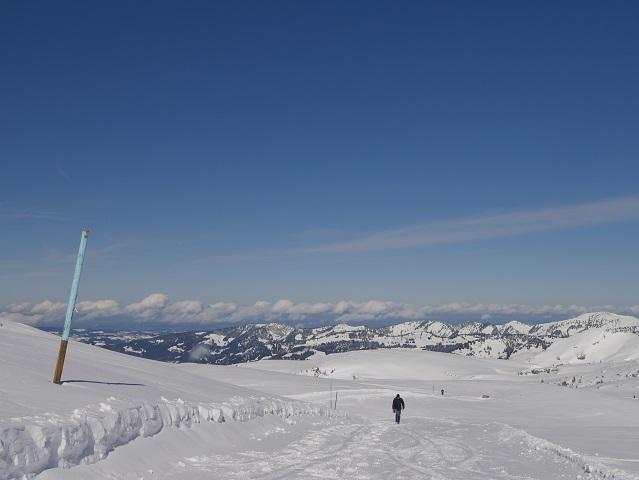 Winterwandern am Hohen Ifen - Blick auf die Nagelfluhkette