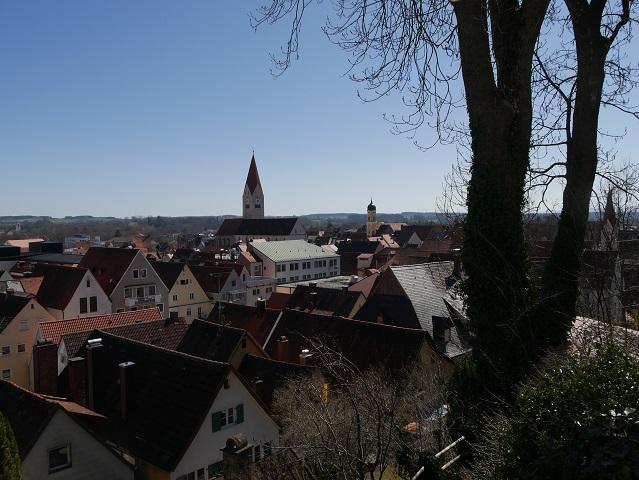 Blick auf die Altstadt von Kaufbeuren