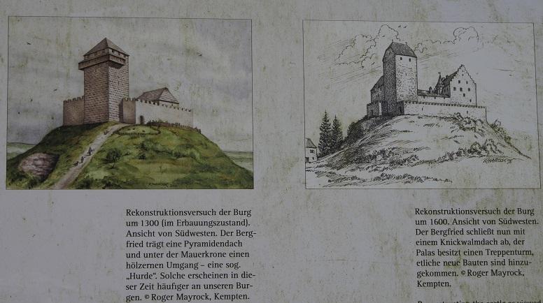 Rekonstruktionen der Burg Wolkenberg bei Wildpoldsried