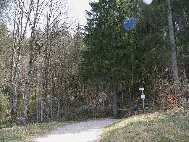 Wegkreuzung an der Alpspitz