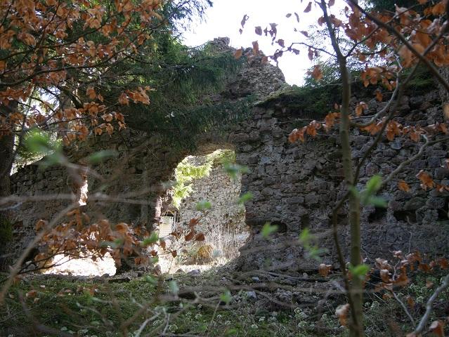 die Ruine der Nesselburg an der Alpspitz bei Nesselwang