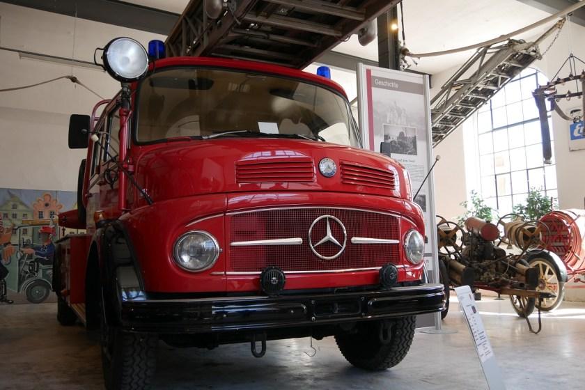 Feuerwehrfahrzeug im Feuerwehrmuseum Kaufbeuren
