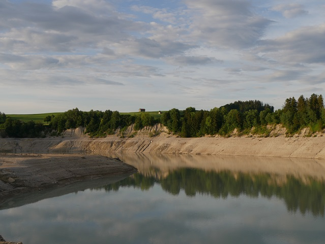 Der fast leere Forggensee bei Tiefental 2018
