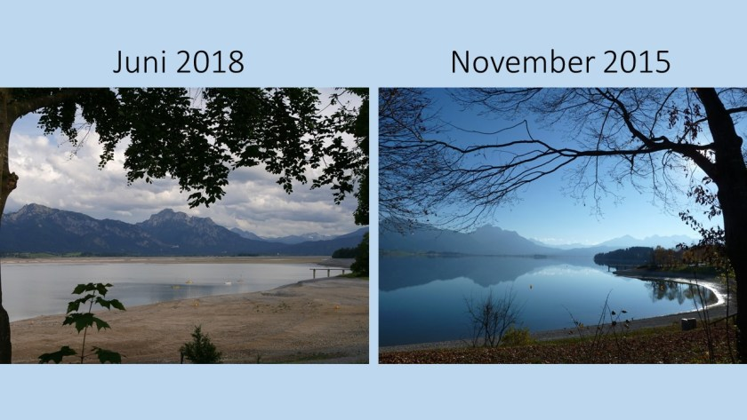 Forggenseebucht 2018 im Vergleich zu 2015