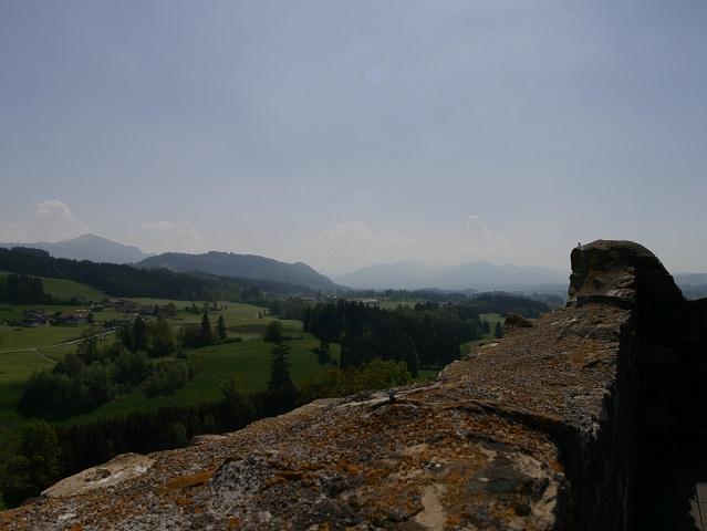 Grüntenblick von der Burgruine Sulzberg aus