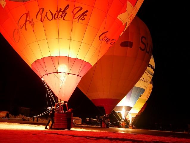 nachts - Ballonglühen in Jungholz #FopaNet