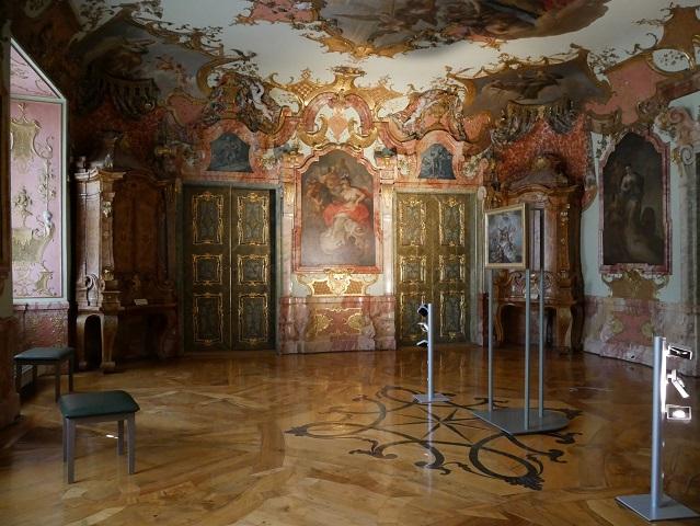 Wohn- und Arbeitszimmer des Fürstabts in der Residenz Kempten