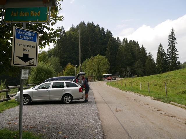 Parkplatz auf dem Ried am Grünten
