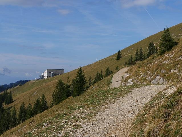 Blick auf die Bergstation der Hochgratbahn