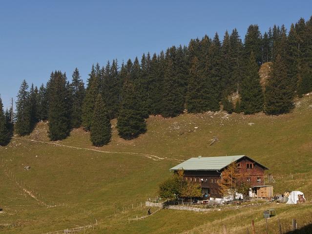 Blick aufs Grüntenhaus von Süden her