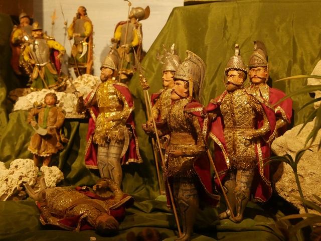 David und Goliath in der Krippe aus Klosterwald