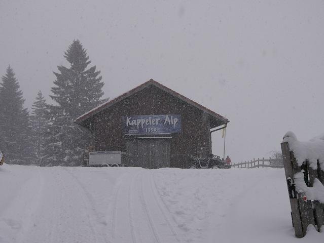 Die Kappeler Alp bei Pfronten im Winter