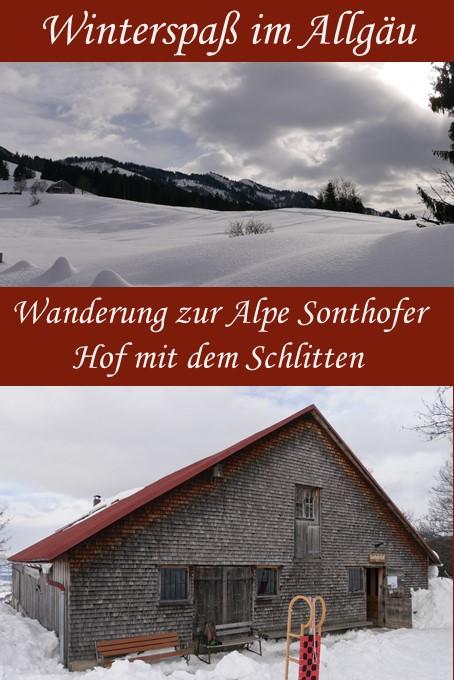 Rodeln von der Alpe Sonthofer Hof
