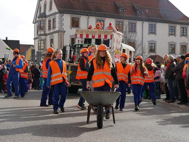 Faschingsumzug Obergünzburg 2019 - Minderbetzigauer Straßebauer