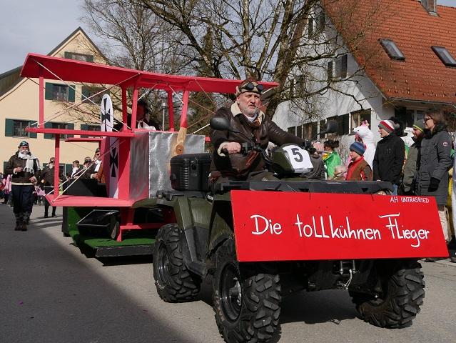 Faschingsumzug Obergünzburg 2019 - tollkühne Flieger aus Untrasried