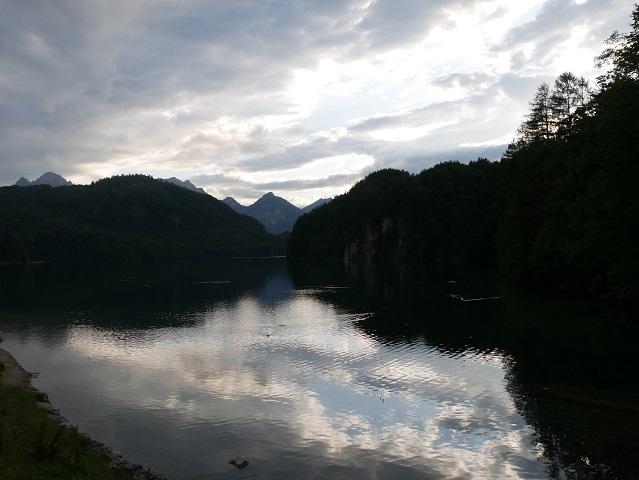 Abendstimmung am Alpsee in Hohenschwangau