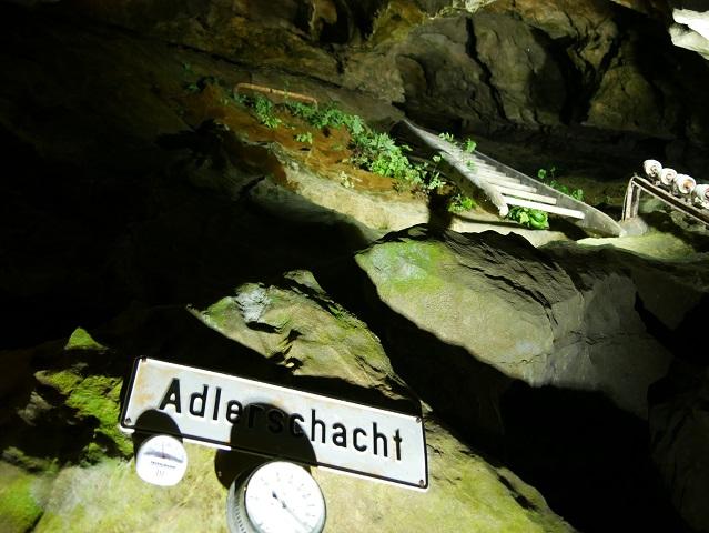 der Adlerschacht in der Sturmannshöhle