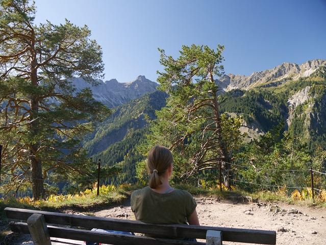 am Aussichtspunkt Köpfle im Hintersteiner Tal