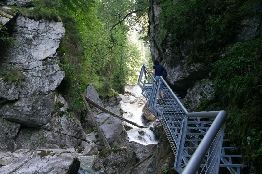 Aufstieg durch die Pöllatschlucht