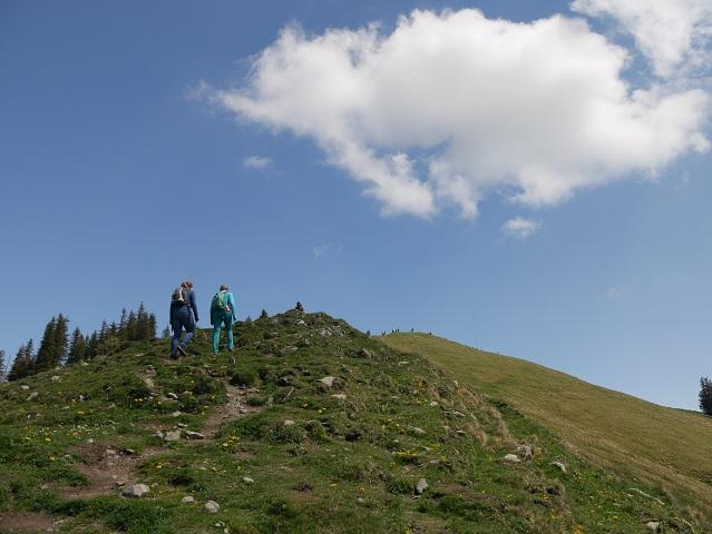 Aufstieg zum Gipfel der Reuterwanne