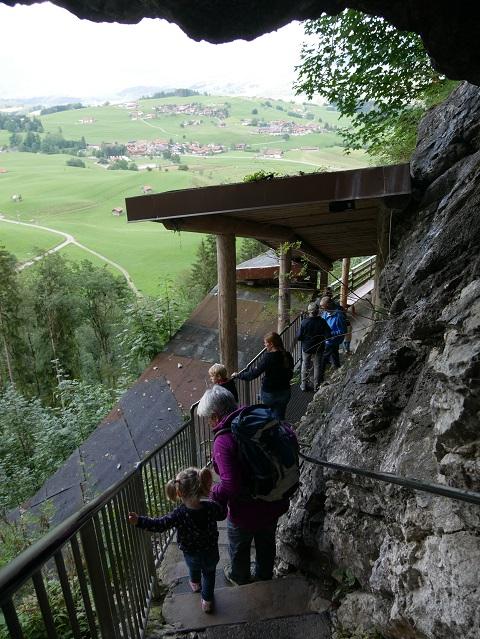 Ausstieg aus der Sturmannshöhle in Obermaiselstein