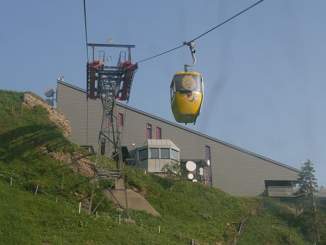 die Bergstation der Hochgratbahn
