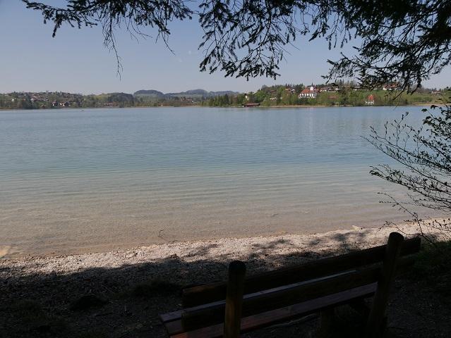Blick über den Weißensee auf den Ort Weißensee