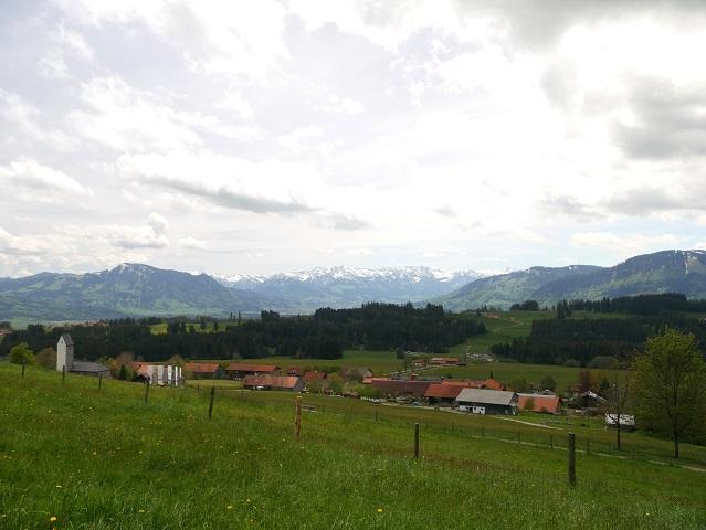 Blick übers Freigelände des Bergbauernmuseums