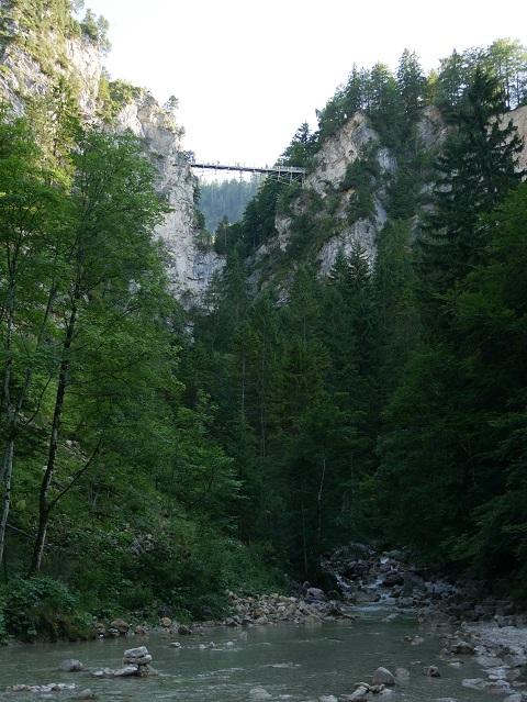 Blick von der Pöllatschlucht auf die Marienbrücke
