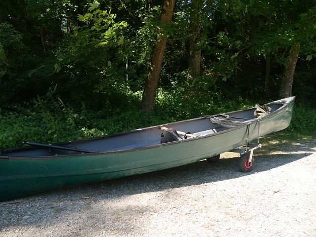 Kanu auf Rädern