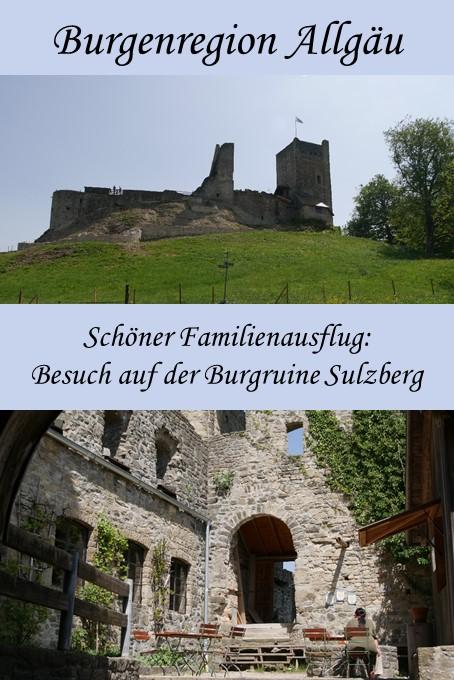 die Burgruine Sulzberg im Allgäu