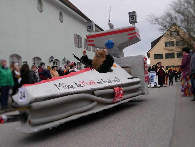 Chewbacca auf dem Faschingsumzug Obergünzburg 2020