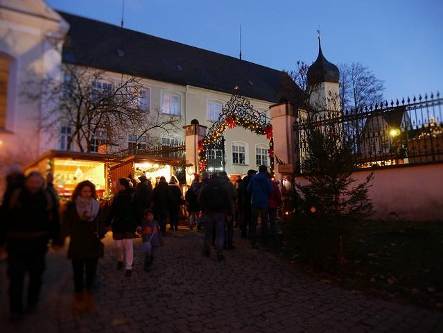 Eingang zum Weihnachtsmarkt Isny