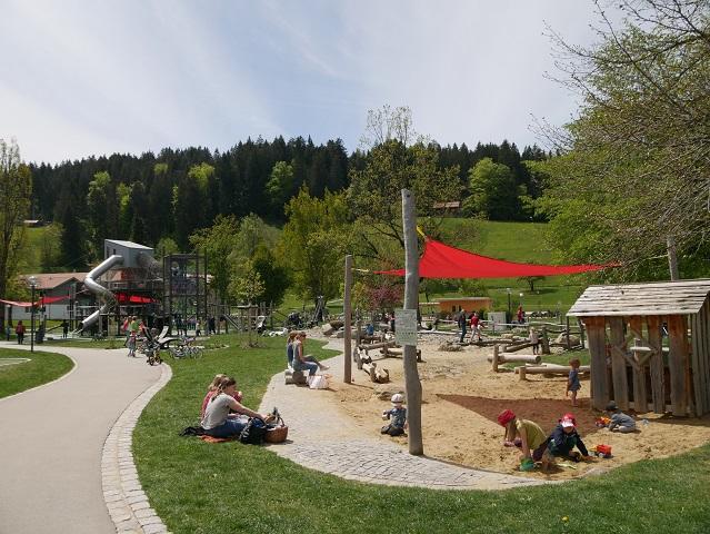 Sandspielplatz im Kurpark Oberstaufen