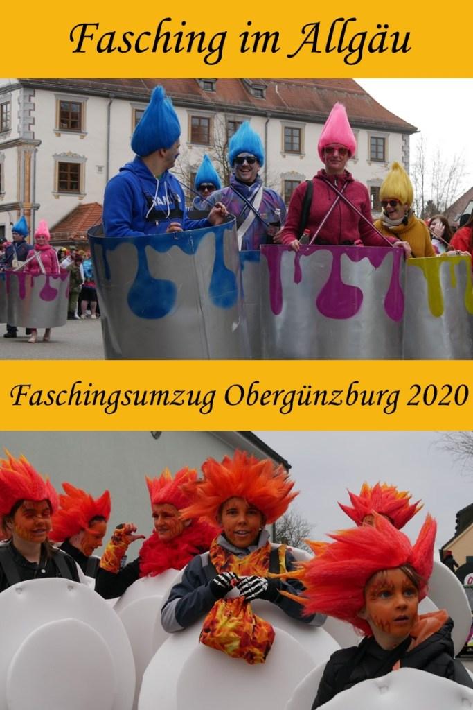 auf dem Faschingsumzug Obergünzburg 2020