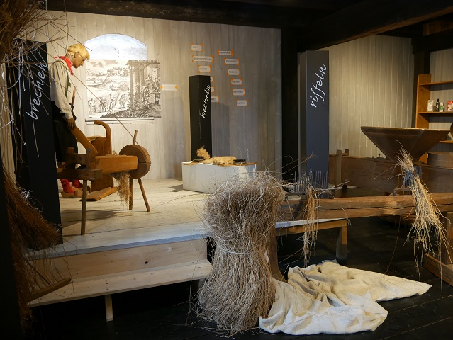 Flachsanbau in Isny - Ausstellung im Wassertor-Museum