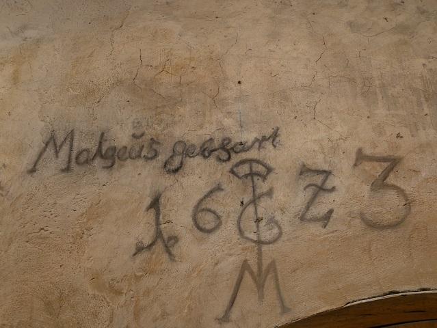 Graffito Mathias Gebhart im Wassertor-Gefängnis in Isny