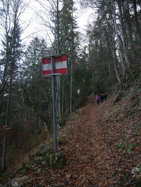 Grenze am Berg