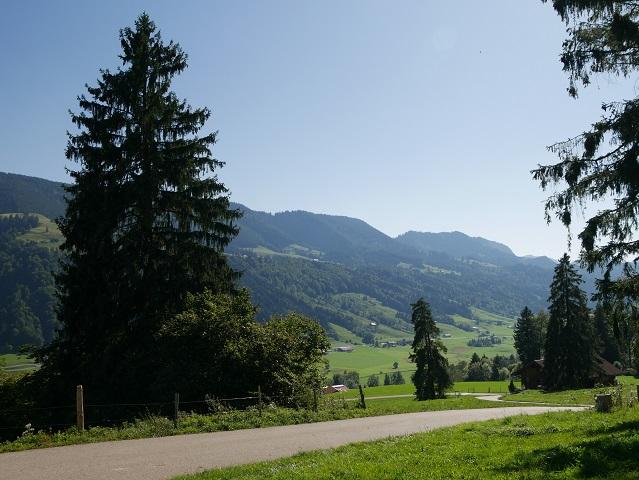 Blick aufs Tal der Konstanzer Ach bei Immenstadt